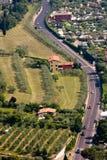 panorama- väg Royaltyfria Foton