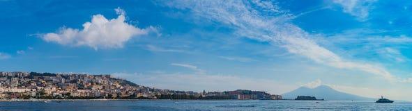 Panorama V van Napels royalty-vrije stock fotografie