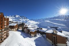 Panorama of Val Thorens Stock Image