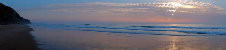 Panorama from Vale Figueiras beach in Portugal Royalty Free Stock Photography
