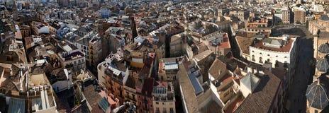 Panorama of Valencia City Royalty Free Stock Photo