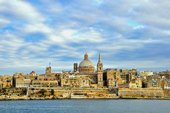 Panorama of Valetta old town Stock Photography