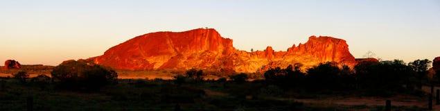 Panorama - vallée d'arc-en-ciel, territoire du nord du sud, Australie images libres de droits