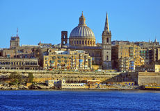 Panorama of Valletta Royalty Free Stock Photos