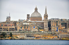Panorama of Valletta Stock Photography