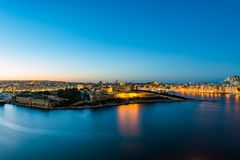 Panorama of Valletta and Fort Manoel, Malta. Valletta, often incorrectly La Valletta, is the capital city of the island state Malta lying on the east coast Royalty Free Stock Image