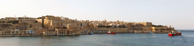Panorama of Valletta Malta 2013 Stock Photos