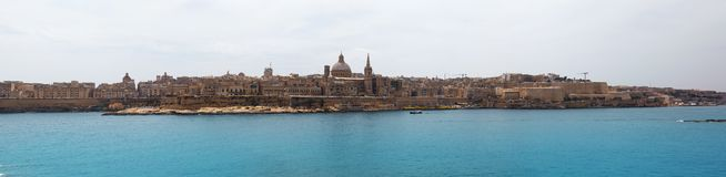Panorama of Valletta Malta 2013 Stock Image