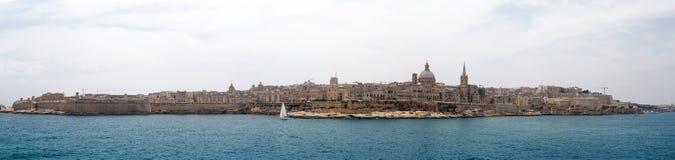 Panorama of Valletta Malta 2013. Panorama of Valletta and Marsamxett Harbour, Malta Stock Photo