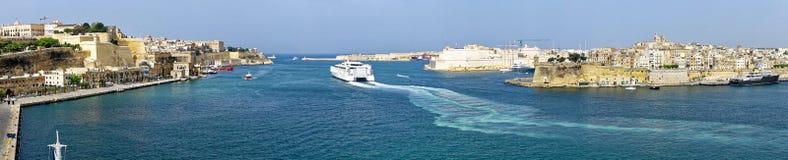 Panorama of Valletta, Malta Stock Photography