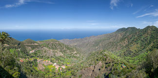 Panorama - The valley of Epina in La Gomera royalty free stock photos