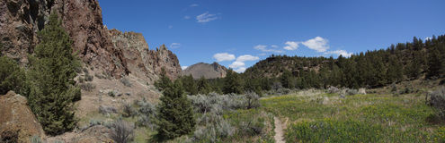 Panorama, valley floor of the Crooked River Stock Images