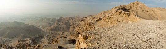 Panorama of the Valley of Kings. Royalty Free Stock Image