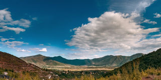 Panorama of valley in Tropoja in Northern Albania Royalty Free Stock Images