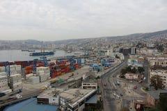 Panorama- ValparaÃso Royaltyfri Foto