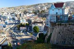 Panorama valparaiso chile imagem de stock
