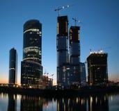 Panorama van in aanbouw wolkenkrabber Royalty-vrije Stock Fotografie