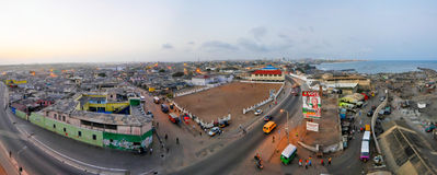 Panorama van Accra, Ghana royalty-vrije stock foto's