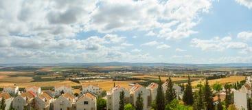 Panorama van Afula Stock Foto's