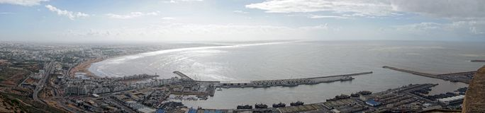 Panorama van Agadir in Marokko Royalty-vrije Stock Afbeelding