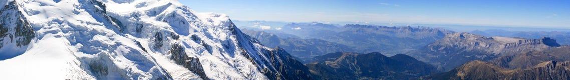 Panorama van Aiguille du Midi, Chamonix, Frankrijk van Al Royalty-vrije Stock Fotografie