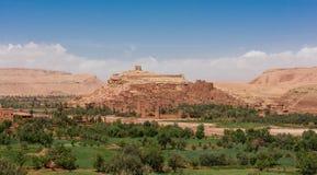 Panorama van Ait Benhaddou, Marokko royalty-vrije stock afbeeldingen