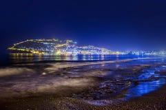 Panorama van Alanya, Turkije Stock Afbeelding