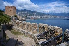 Panorama van Alanya, Turkije Stock Afbeeldingen