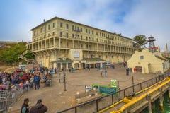 Panorama van Alcatraz Stock Foto's