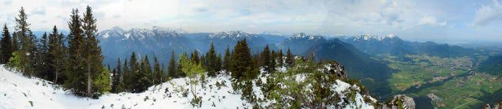 Panorama van Alpen Stock Afbeeldingen