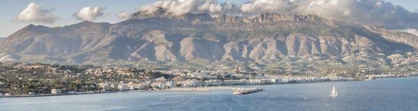 Panorama van Altea, Spanje Royalty-vrije Stock Foto's