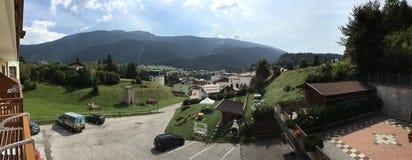 Panorama van Andalo, Italië Royalty-vrije Stock Foto's