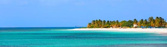 Panorama van anguilla eiland stock afbeelding