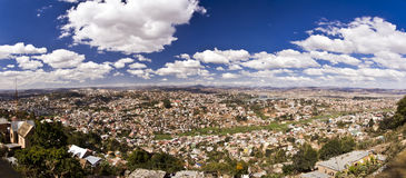 Panorama van Antananarivo-stad, het kapitaal van Madagascar stock afbeelding