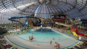 Panorama van aquapark stock video