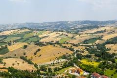 Panorama van Arcevia Royalty-vrije Stock Foto's