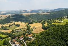 Panorama van Arcevia Stock Afbeelding