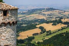 Panorama van Arcevia Stock Foto's