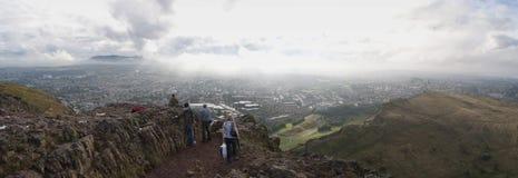Panorama van Arthurs Seat Edinburgh Schotland het UK Stock Fotografie