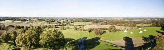 Panorama van Aschberg in Duitsland royalty-vrije stock foto