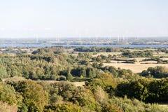 Panorama van Aschberg in Duitsland stock foto's