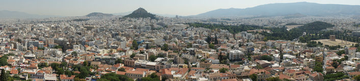 Panorama van Athene Royalty-vrije Stock Afbeelding