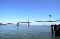 Panorama van Baaibrug in San Francisco, Californië Royalty-vrije Stock Fotografie
