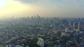 Panorama van Bangkok stock video
