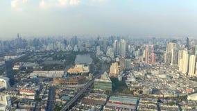 Panorama van Bangkok stock videobeelden