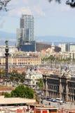 Panorama van Barcelona Royalty-vrije Stock Foto's