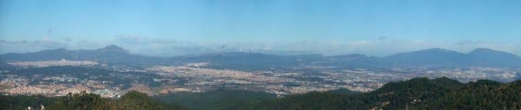 Panorama van Barcelona stock foto