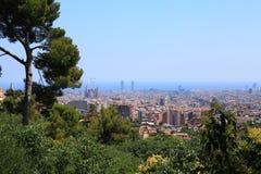 Panorama van Barcelona. Stock Afbeeldingen