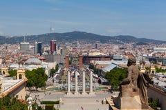 Panorama van Barcelona Stock Fotografie