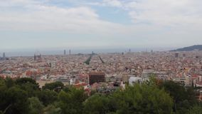 Panorama van Barcelona stock footage